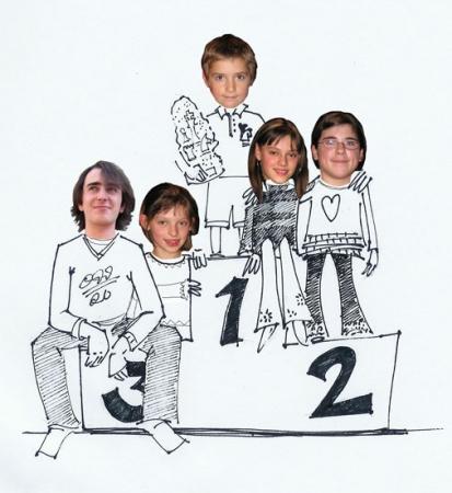 Nos 5 champions Aix 2006