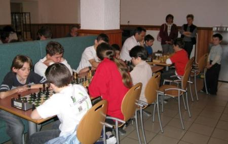 Des joueurs d'échecs...